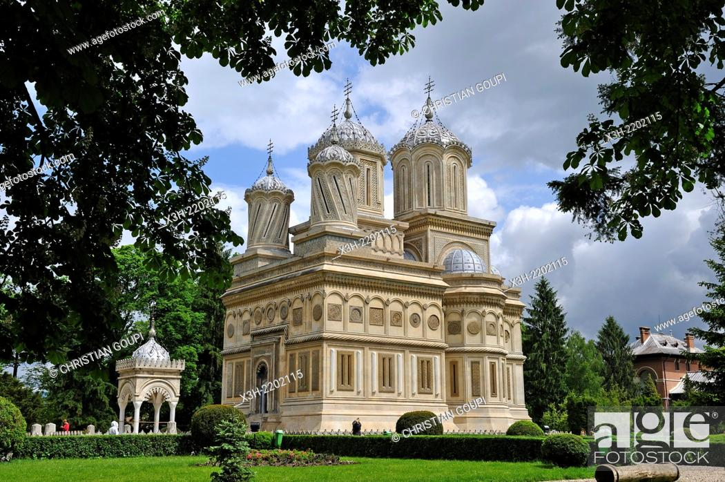 Imagen: Romanian Orthodox Cathedral of Curtea de Arges, Romania, Southeastern and Central Europe.