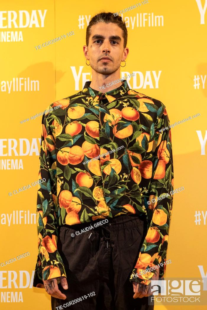 Imagen: Andrea Molteni art name Axos during the photocall of film ' Yesterday ' in Milan, ITALY-20-06-2019.