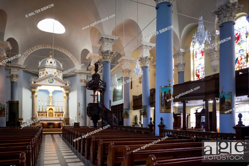 Stock Photo: Ireland, County Waterford, Waterford City, Holy Trinity Cathedral, interior.
