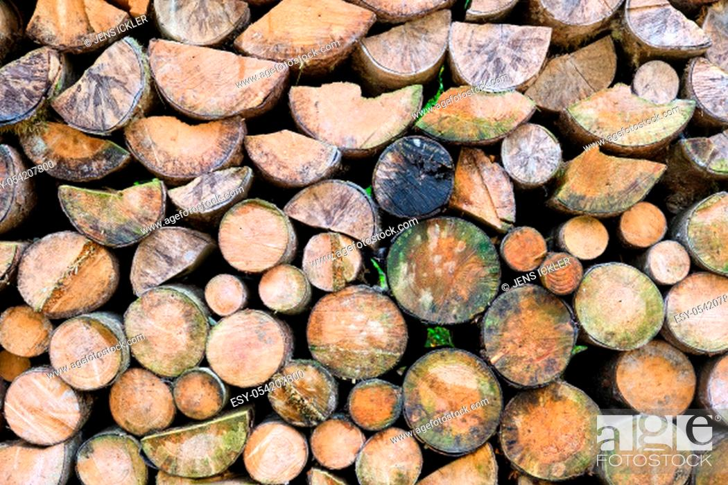 Imagen: Background from a pile of firewood.
