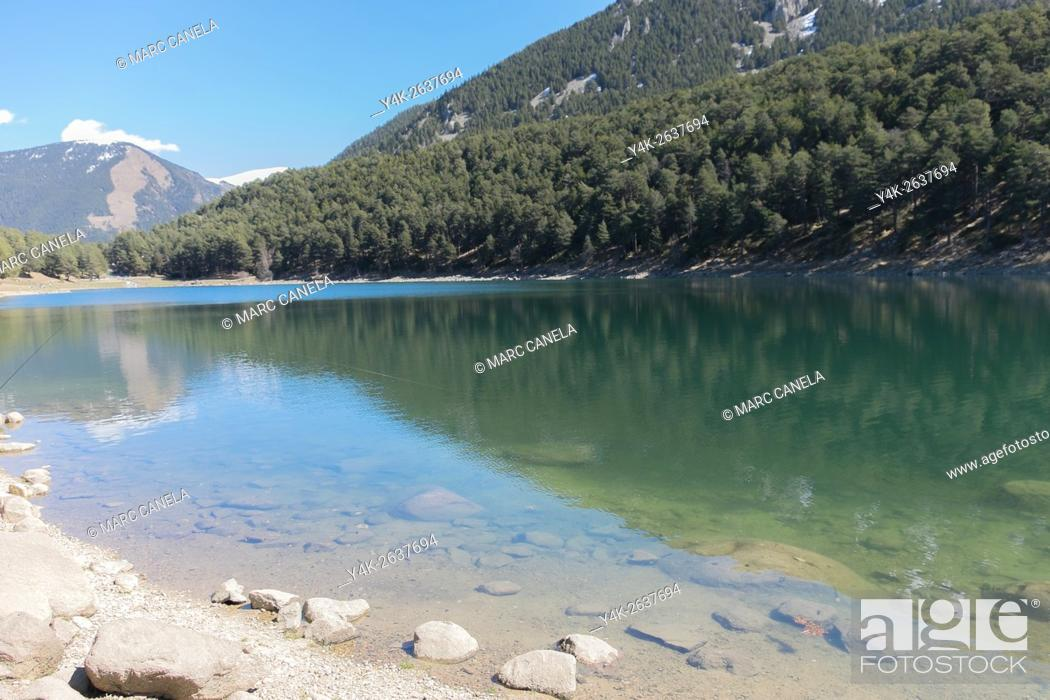 Stock Photo: Engolasters lake, Andorra.