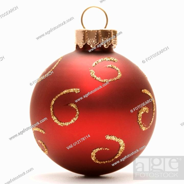 Stock Photo: Still life of red Christmas ornament.