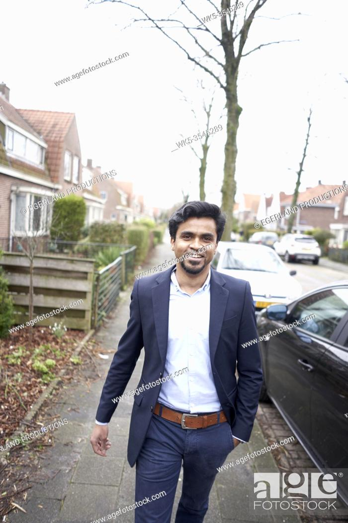 Stock Photo: Indian business man in Leeuwarden, Friesland, Netherlands, Europe.
