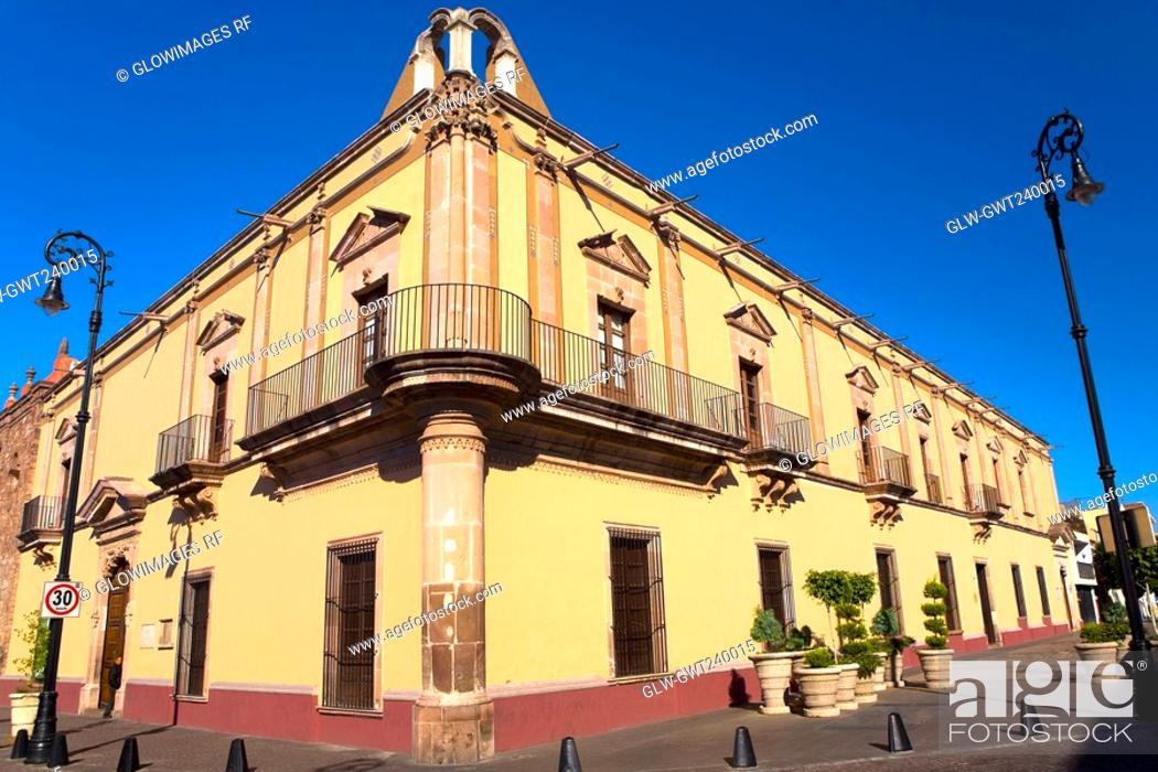 Stock Photo: Low angle view of a building, Casa De La Cultura, Aguascalientes, Mexico.