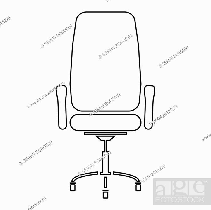 Vector: Office chair icon .