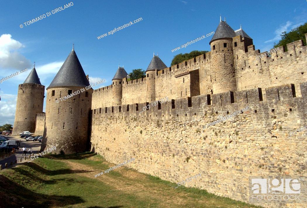 Stock Photo: France, Carcassonne.