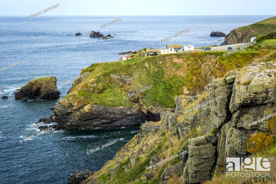 Stock Photo: Lizard Point (the most southerly point in mainland Britain), Cornwall, England.