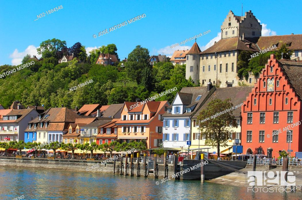 Stock Photo: Meersburg, Castle, Lake Constance Bodensee, Baden-Wuerttemberg, Germany, Europe.