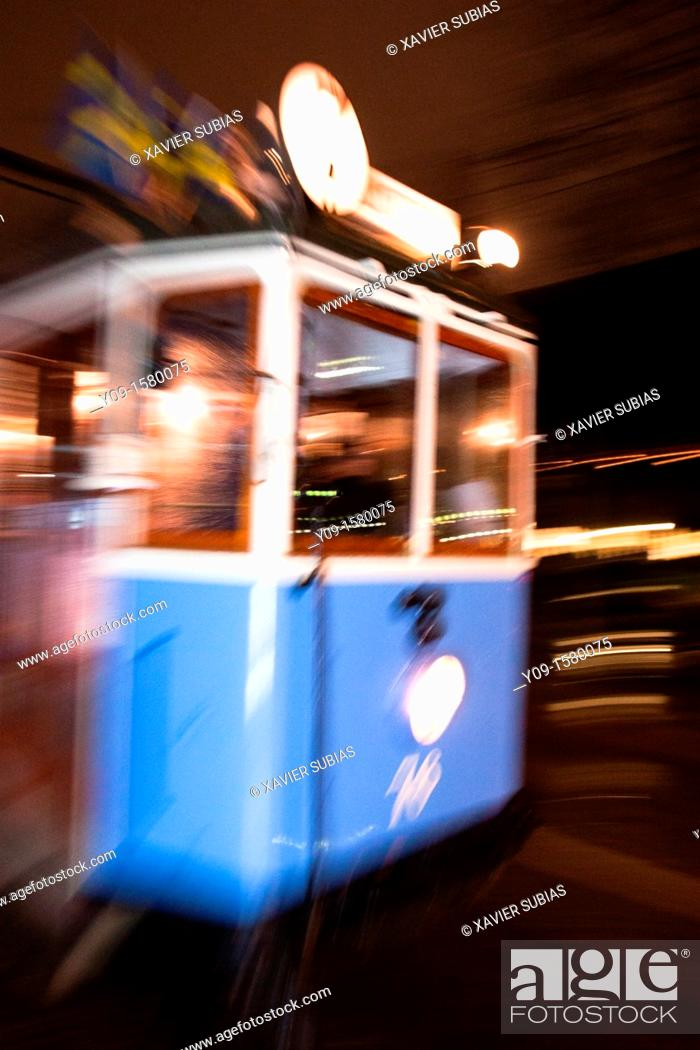 Stock Photo: Tram, Stockholm, Sweden.