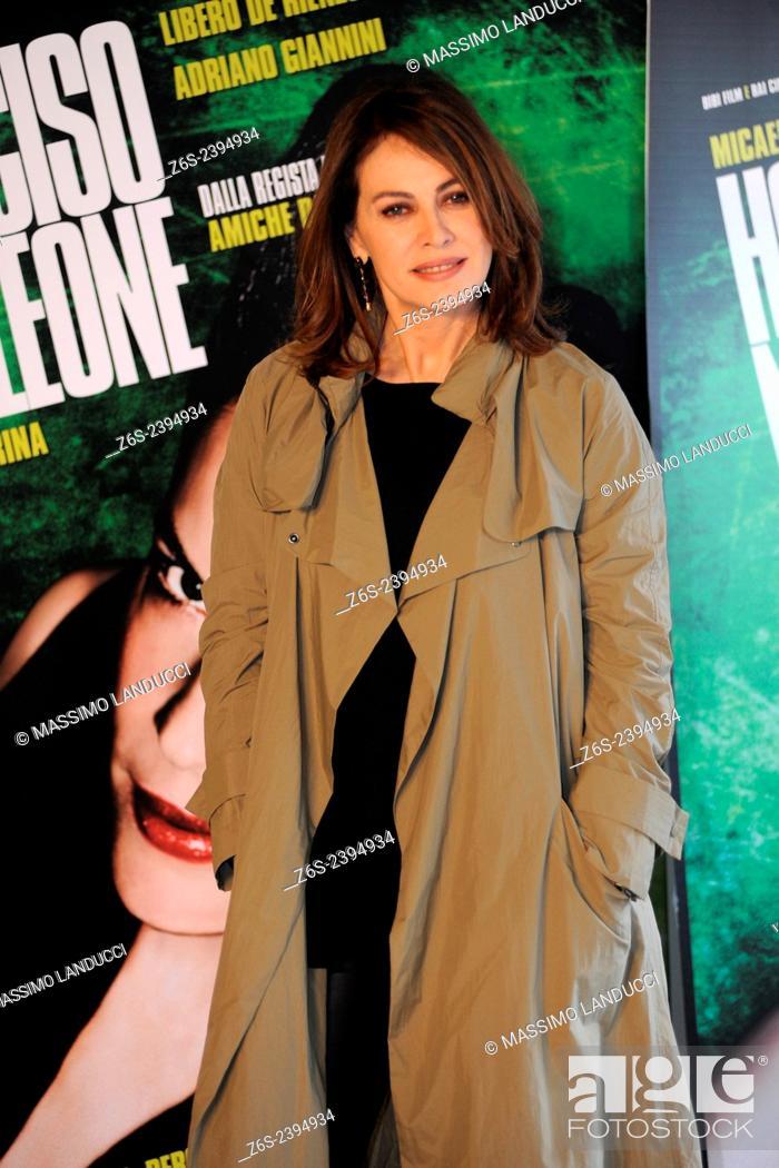 Stock Photo: elena sofia ricci; sofia ricci; actress; celebrities; 2015;rome; italy;event; photocall; ho ucciso napoleone.