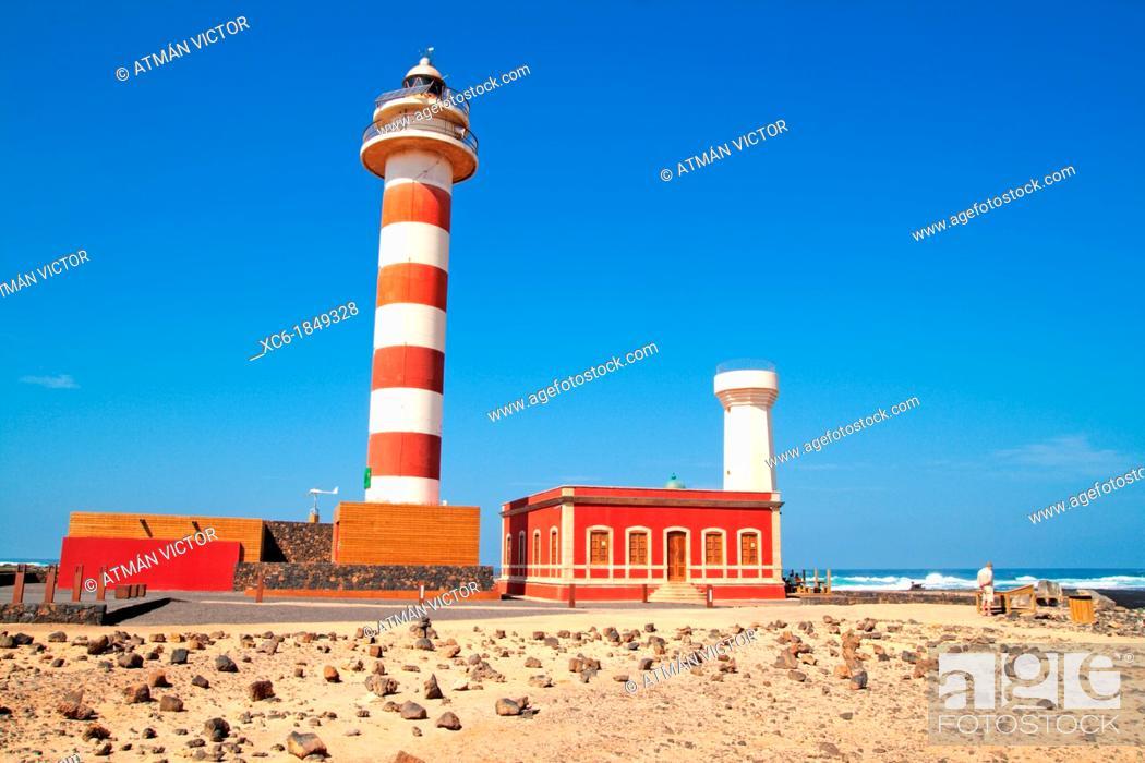 Stock Photo: Cotillo Lighthouse Fuerteventura.