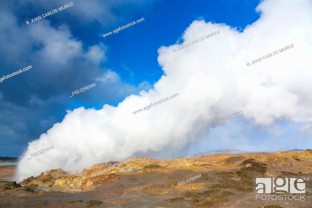 Stock Photo: Gunnuhver, geothermal area,Reykjanes Peninsula, Southern Iceland, Iceland, Europe.