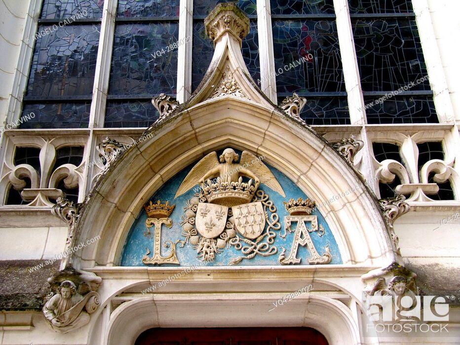 Stock Photo: Castle of Blois - St Calais chapel. .