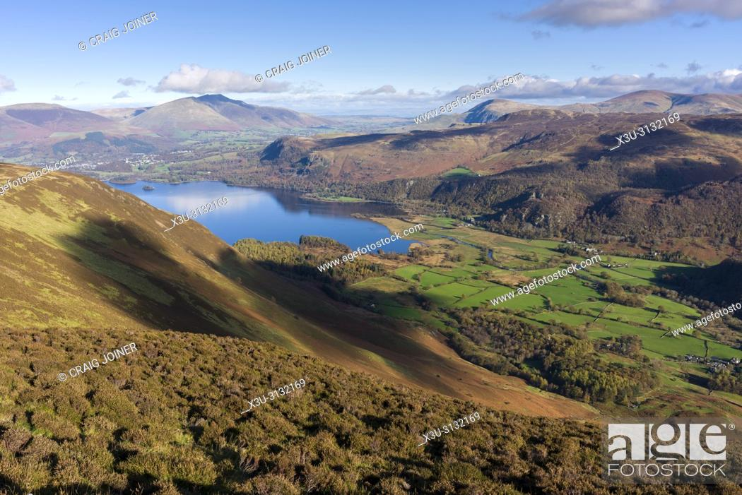 Stock Photo: Borrowdale valley from Maiden Moor in the Lake District National Park, Cumbria, England.