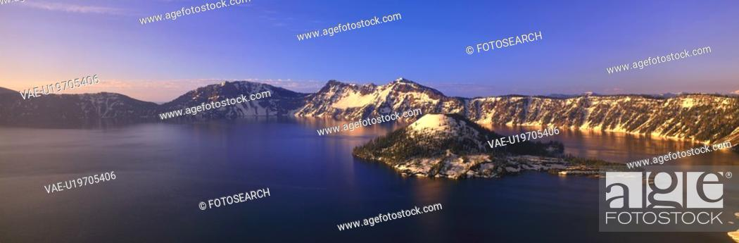 Stock Photo: Crater Lake National Park.