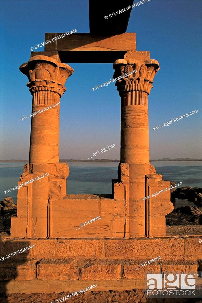 Stock Photo: Kertassi kiosk relocated in Kalabsha temple ground. Aswan, Nubia . Egypt.