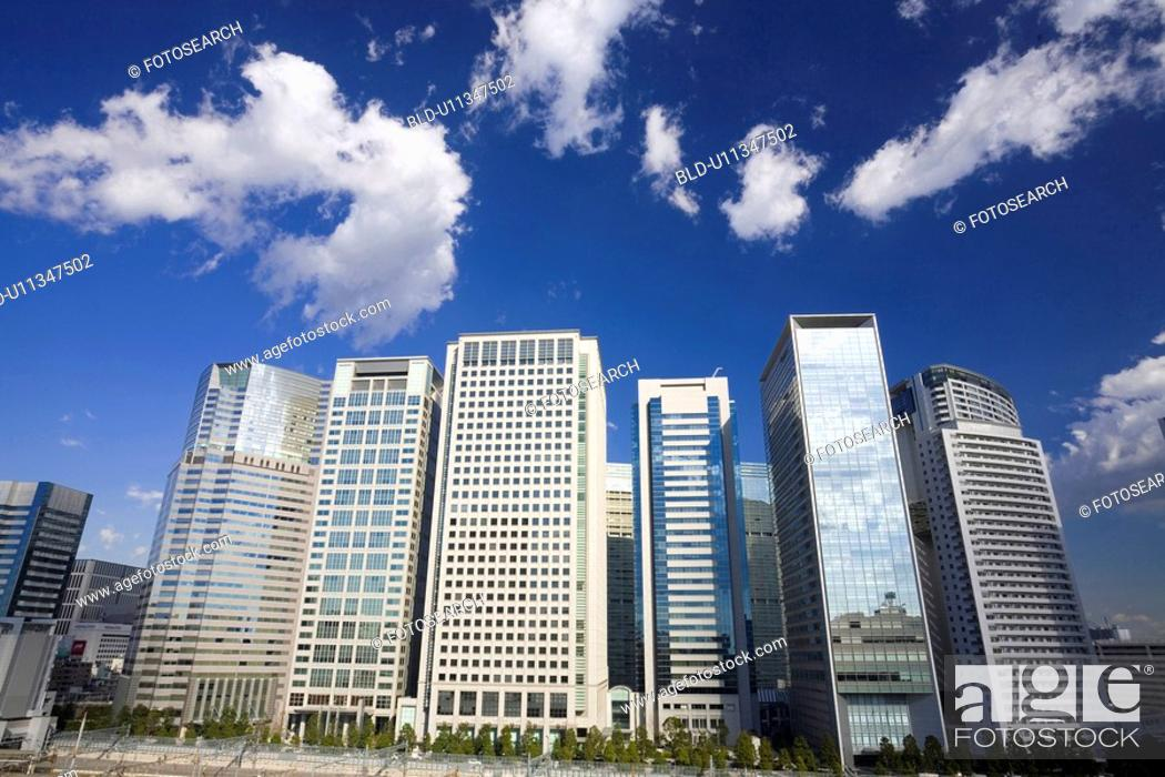 Stock Photo: Shinagawa high-rise buildings.