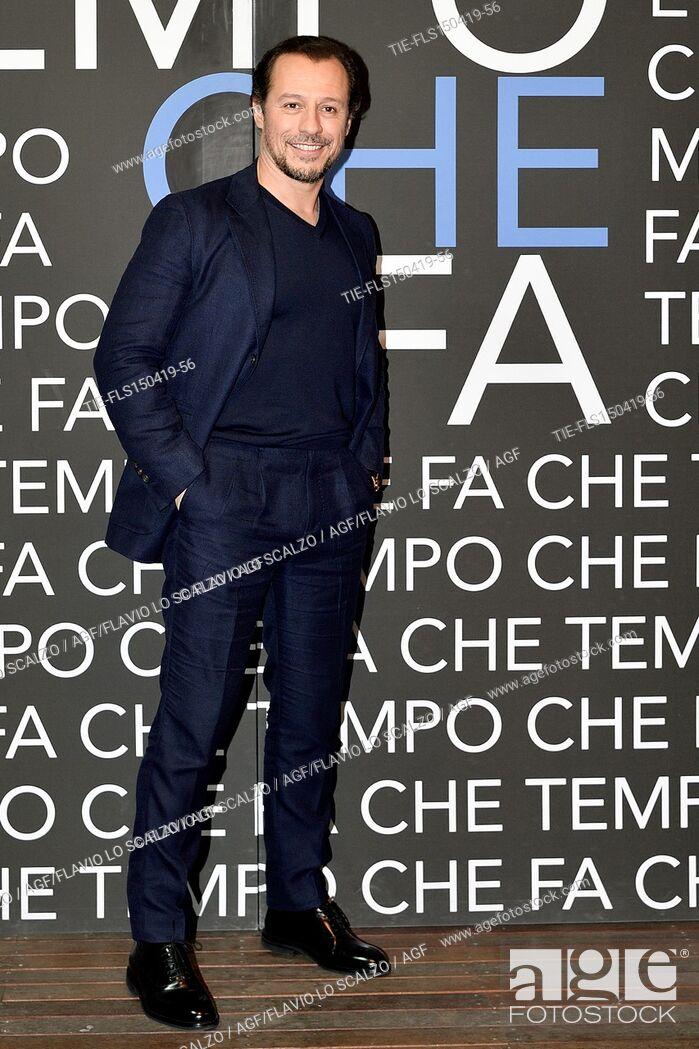 Imagen: Stefano Accorsi  during the tv show Che tempo che fa, Milan, ITALY-14-04-2019.