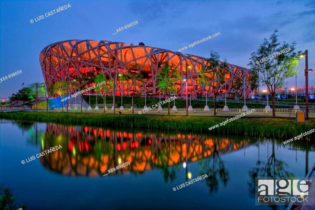 Stock Photo: The National Stadium, Beijing,  People's Republic  of China.