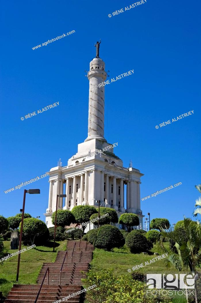 Stock Photo: Dominican Republic - Northern - The Cibao - Santiago - Monument to the Heroes of the Restoration.