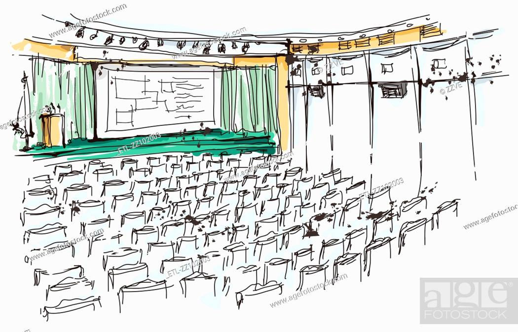 Stock Photo: Illustration of auditorium.