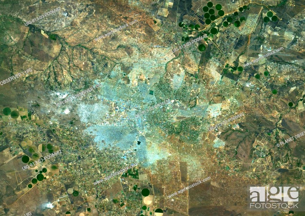 Imagen: Colour satellite image of Lusaka, Zambia. Image taken on August 26, 2014 with Landsat 8 data.