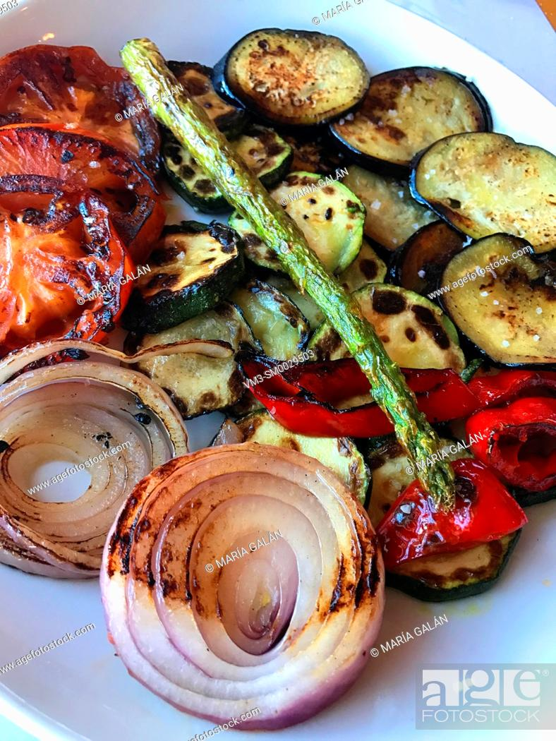 Stock Photo: Grilled vegetables.