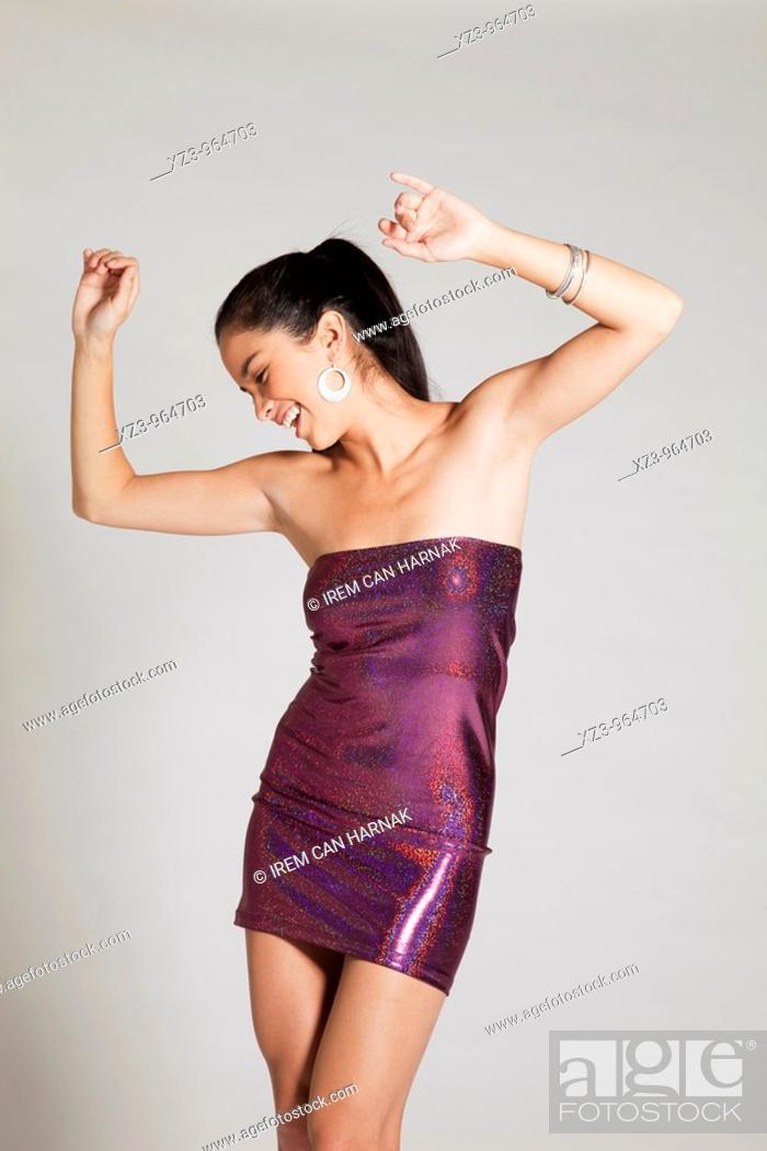 Stock Photo: Studio portrait of young woman.