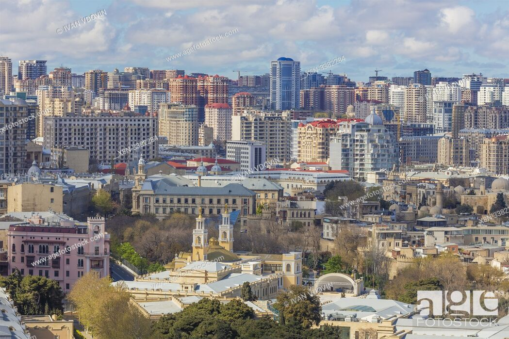 Stock Photo: Cityscape, Baku, Azerbaijan.