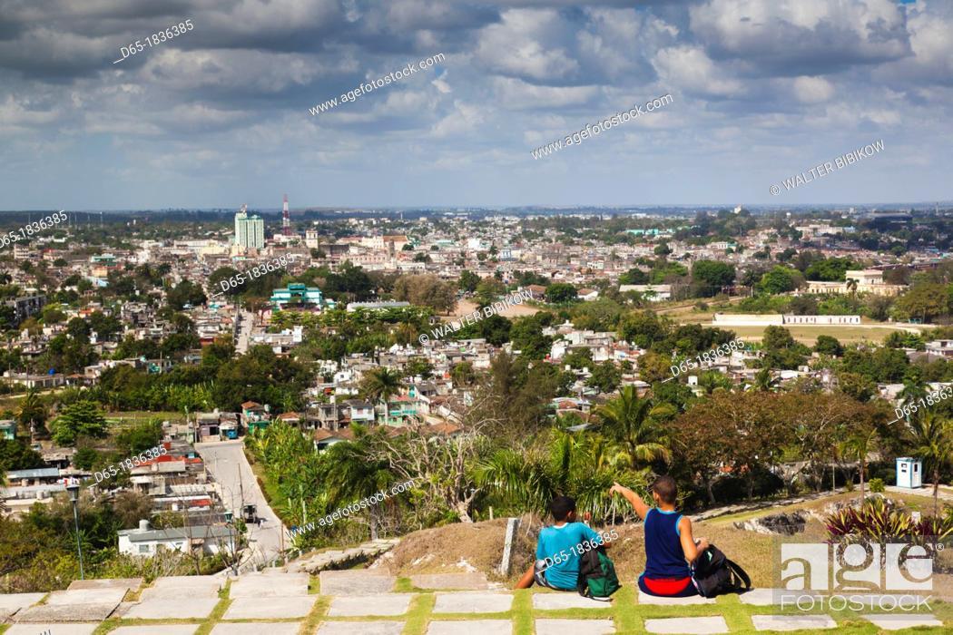 Stock Photo: Cuba, Santa Clara Province, Santa Clara, elevated city view from the Lomo de Caparo, NR.