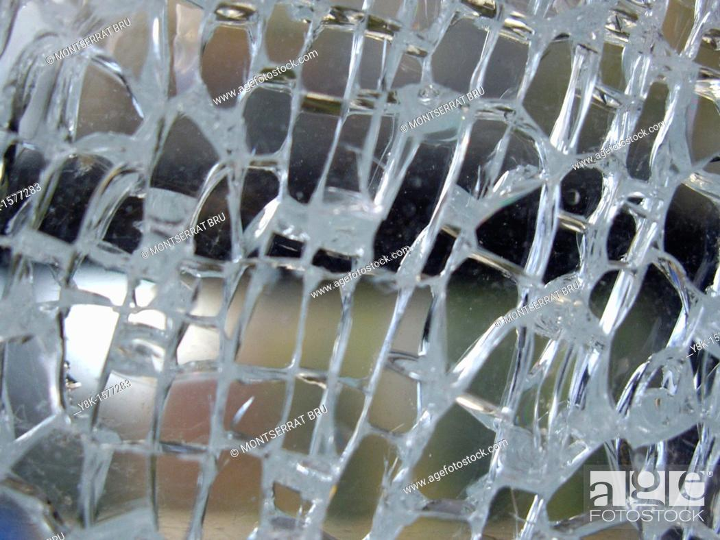 Stock Photo: Shattered glass.