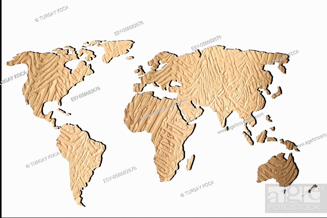 Stock Photo: Roughly sketched out world map as global business concepts.