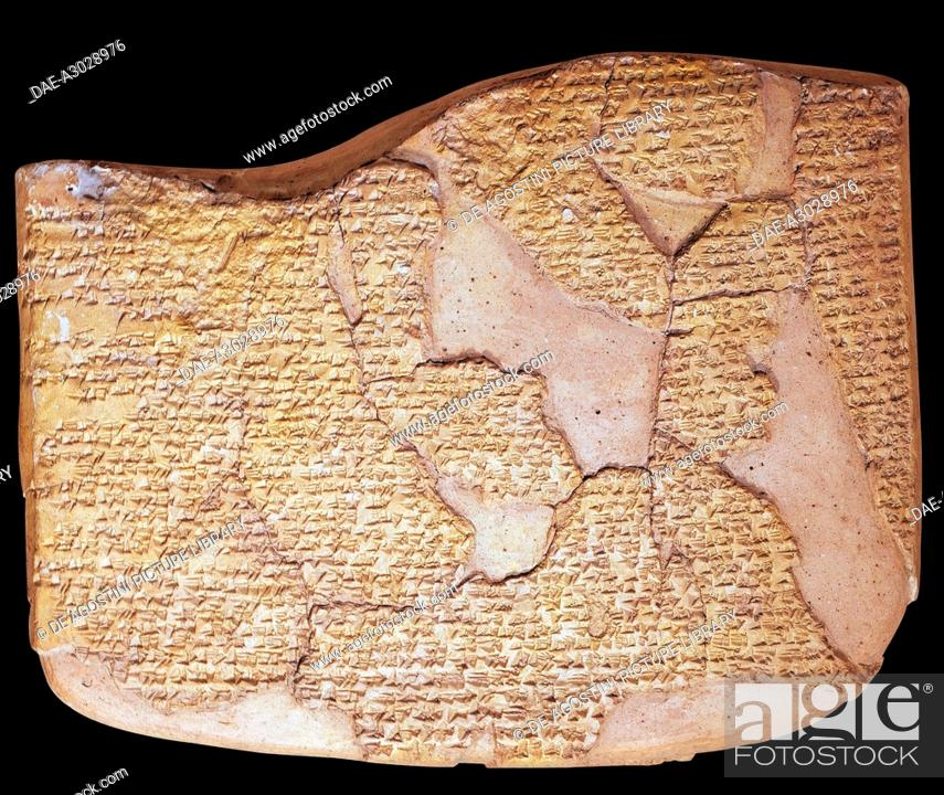Stock Photo: Tablet with the Treaty of Kadesh, signed between the Egyptians and the Hittites, clay. Hittite civilisation, 13th century BC.