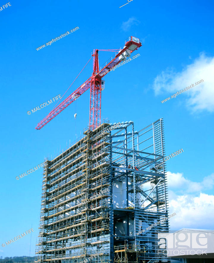 Stock Photo: Industrial building under construction.