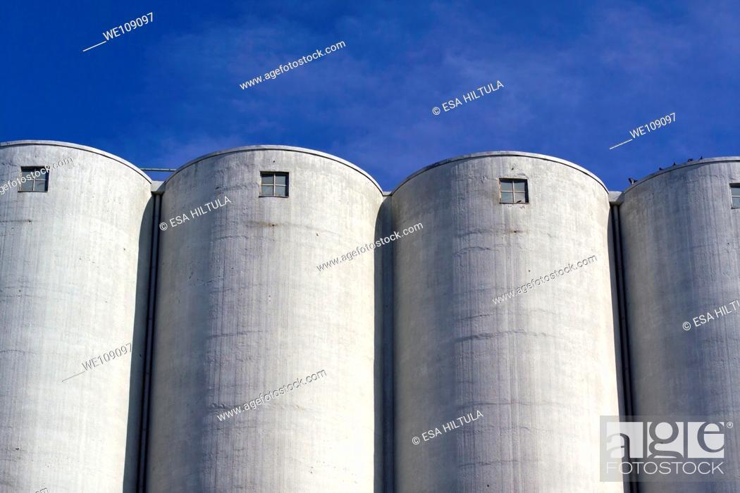 Stock Photo: corn supply storage.