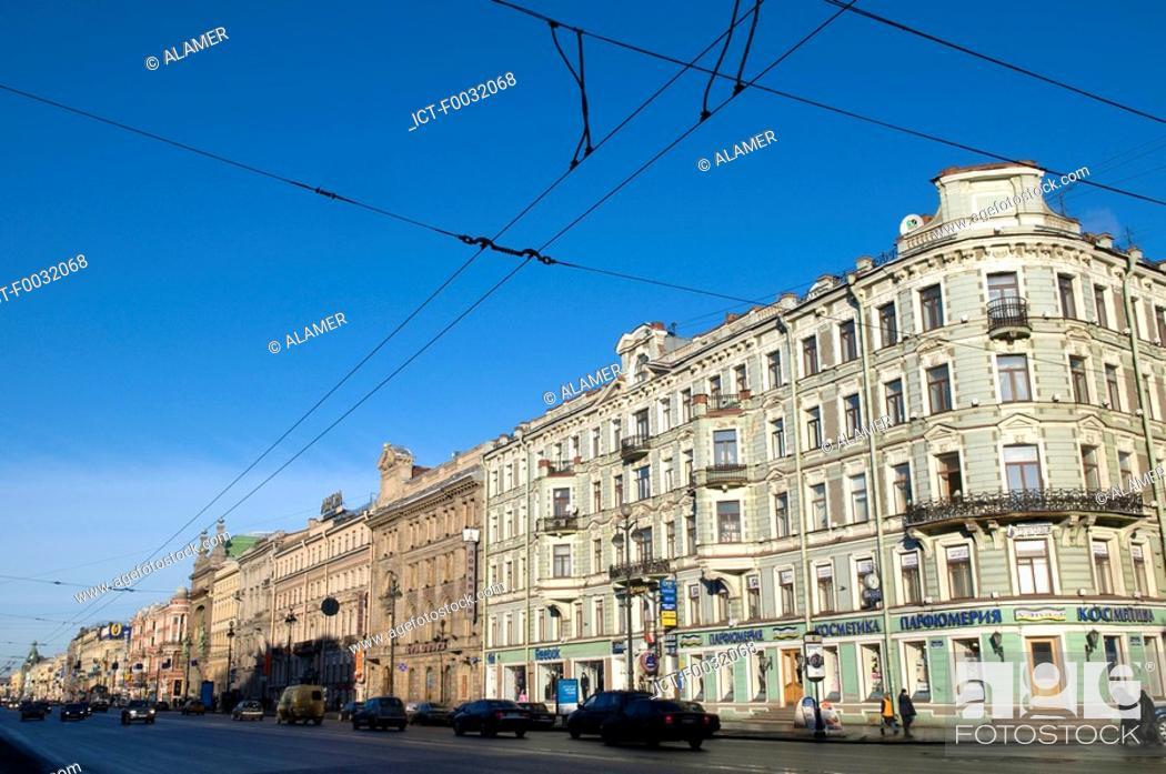 Stock Photo: Russia, St Petersburg, Nevsky prospekt.