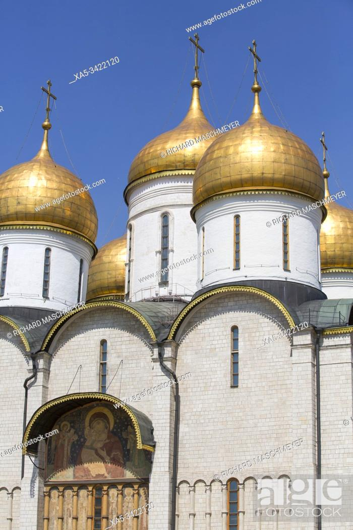 Stock Photo: Assumption Cathedral, Kremlin, UNESCO World Heritage Site, Moscow, Russia.