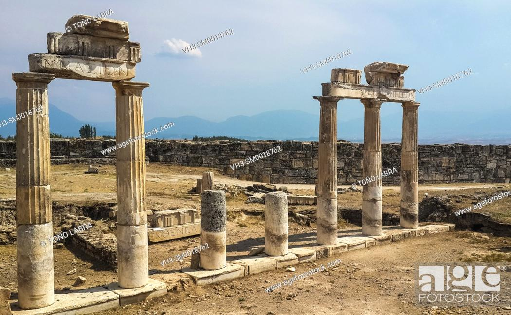Stock Photo: Hierapolis. Ancient Greece. Asia Minor. Turkey.