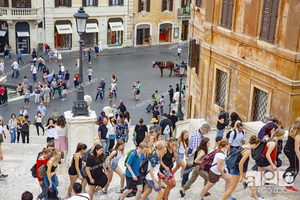 Stock Photo: Spanish steps and Piazza Di Spagna in Rome, Italy.