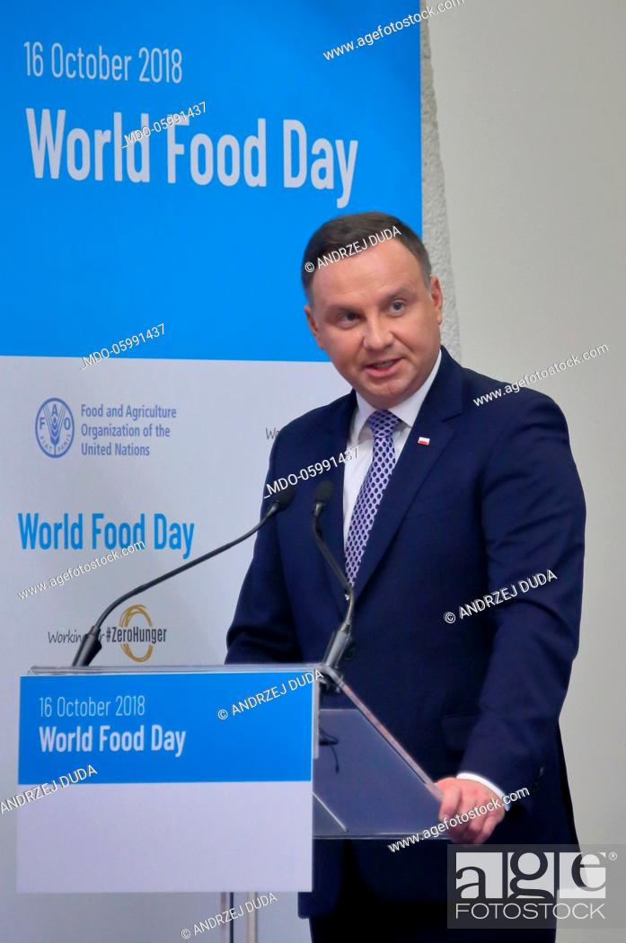 Official Visit Of The Republic Of Poland President Andrzej Duda At The Headquarters Of The World Stock Photo Picture And Rights Managed Image Pic Mdo 05991437 Agefotostock