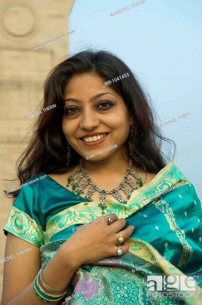 Stock Photo: Indian woman, portrait, Delhi, India, South Asia.