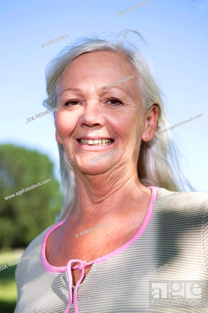 Stock Photo: Mature woman portrait.