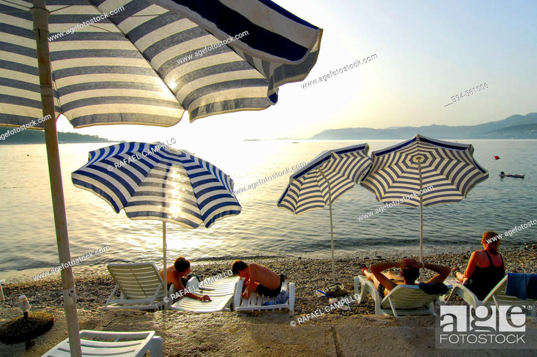 Stock Photo: Beach. Cavtat (Old Ragusa). Croatia.
