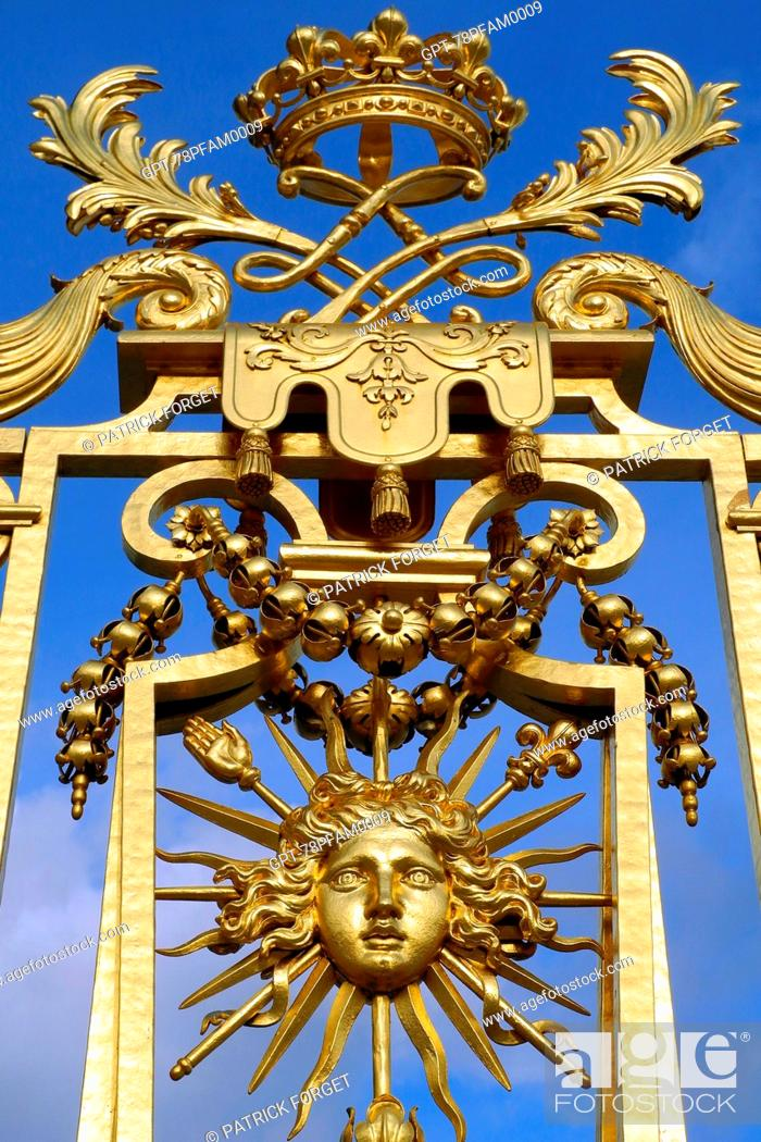 Detail Of The Royal Gate In Gold Leaf Made By Hardouin Mansart