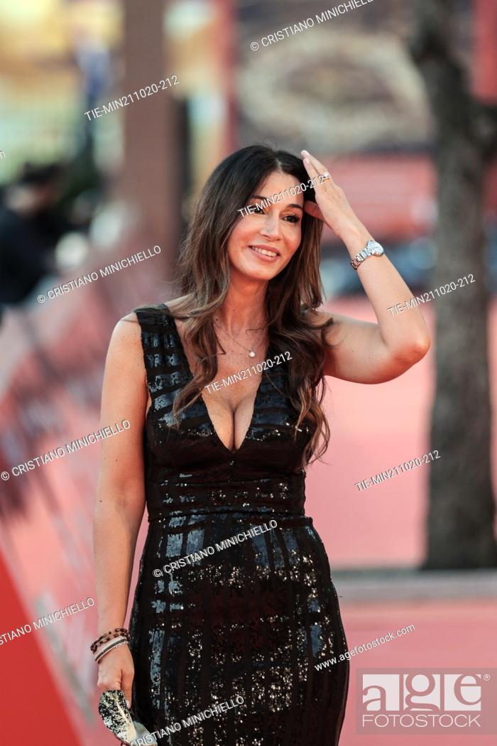 Stock Photo: Elisabetta Bardelli Ricci on Red carpet of film 'Maledetta primavera' at the 15th Rome Film Festival, Rome, ITALY-21-10-2020.
