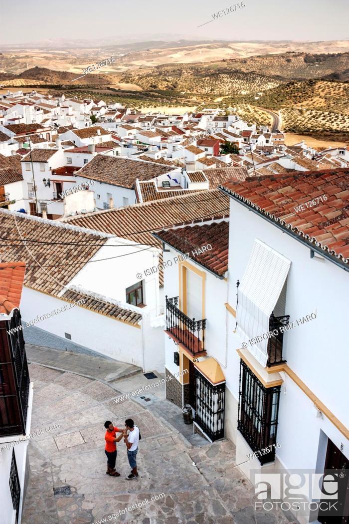 Stock Photo: Roofs (aerial view). Olvera. Ruta de los Pueblos Blancos. Cádiz. Andalucia. Spain.