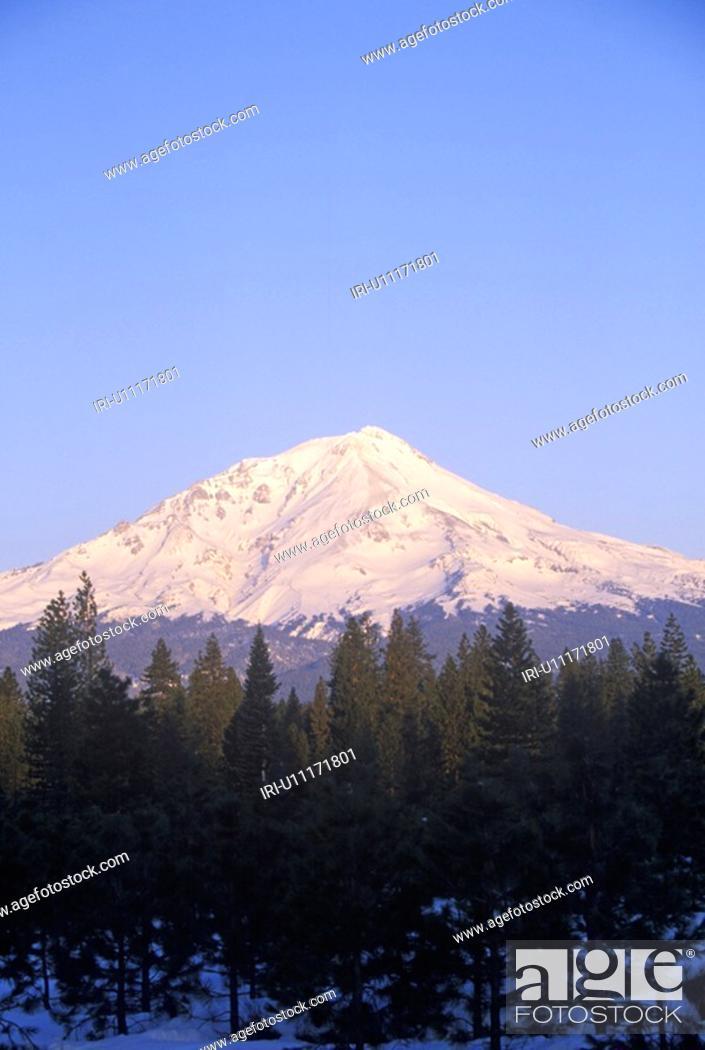 Stock Photo: Mountain at sunrise.