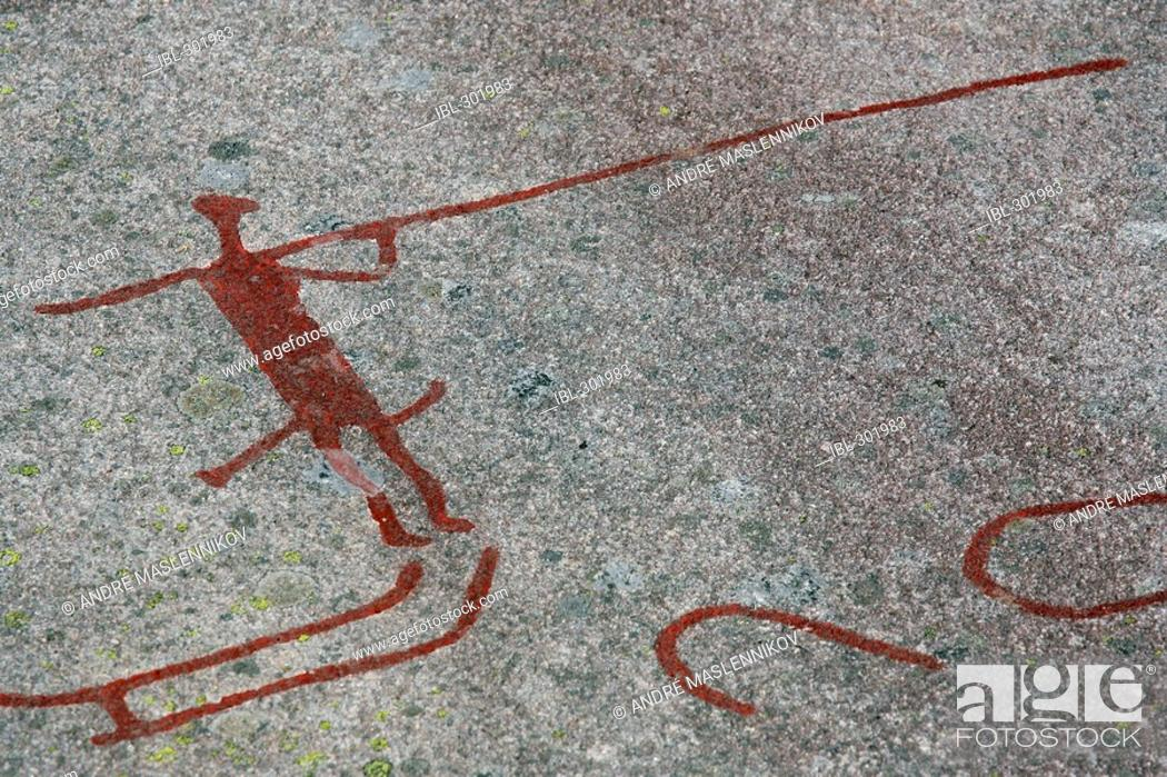 Stock Photo: Petroglyphs.