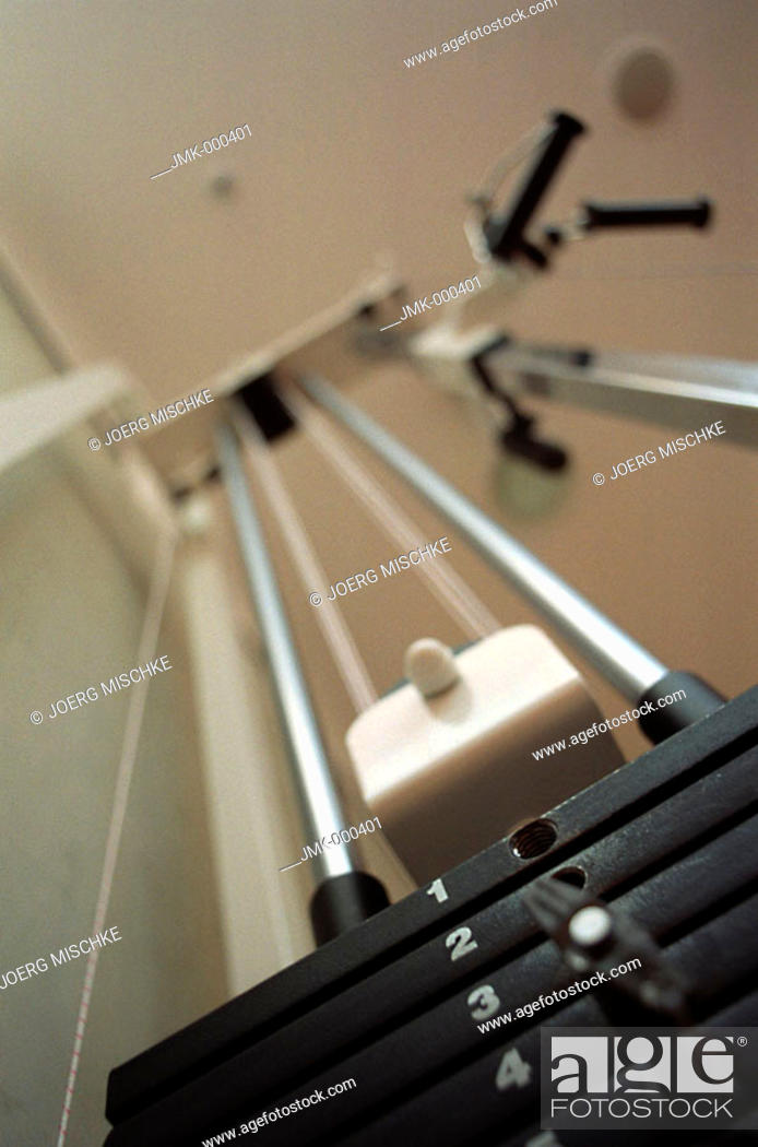 Stock Photo: Machine, athletic implement with weights.