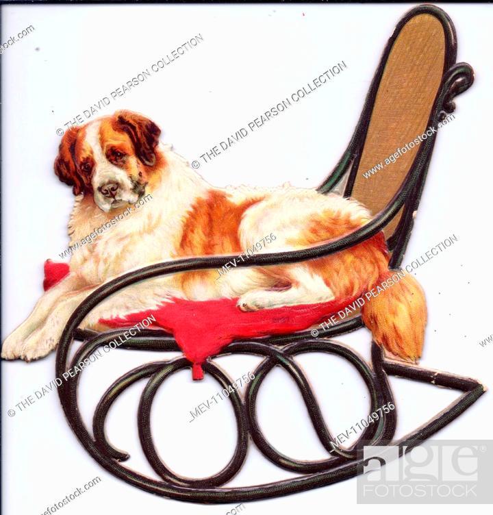 Pleasing Dog On A Rocking Chair On A Cutout Movable Greetings Card Frankydiablos Diy Chair Ideas Frankydiabloscom